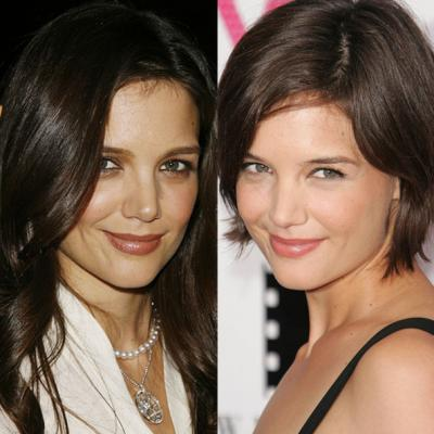 Katie Holmes Short Hair Makeover