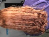 VIRGIN WAVY RED HAIR