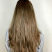 Hair dried straight