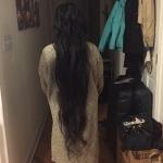 Virgin wavy black hair for sale