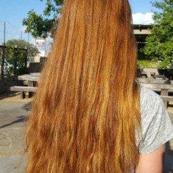 Hair in sunlight