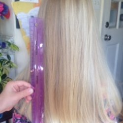 Girl's Virgin Blond Hair