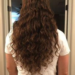Virgin Medium Brown Wavy Male Hair