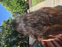 Thick brown virgin hair