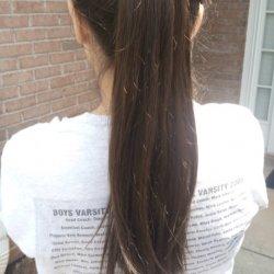 """Uncut 10-15"""" Medium Brown Virgin Straight Hair"""