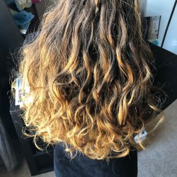 Close up of hair inside with natural lighting