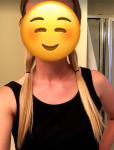 Hair before cutting