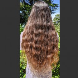 Natural waves after air drying