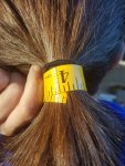 Ellens Hair Width, Shiny