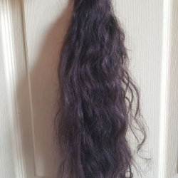 """next to 18"""" ruler. hair measures about 1-2"""" longer"""