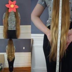 "27"" dirty blonde hair"